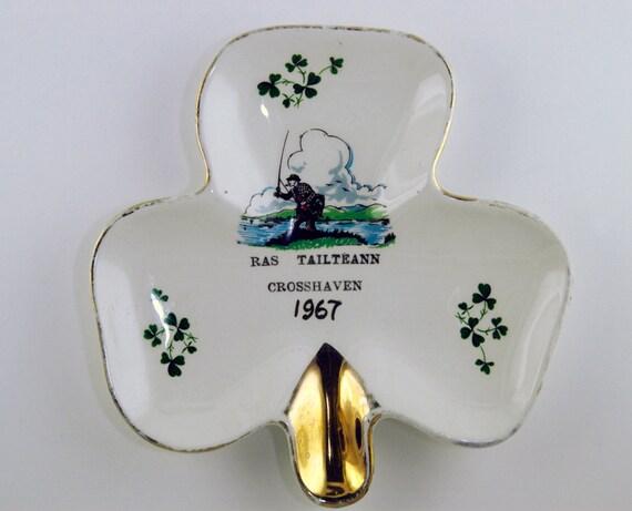 Vintage Souvenir Shamrock plate