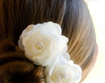 Wedding Hair Flowers, Vintage Wedding Hair Flowers / Bridesmaids Hair Piece / Wedding hair flower / Vintage Wedding Head Piece