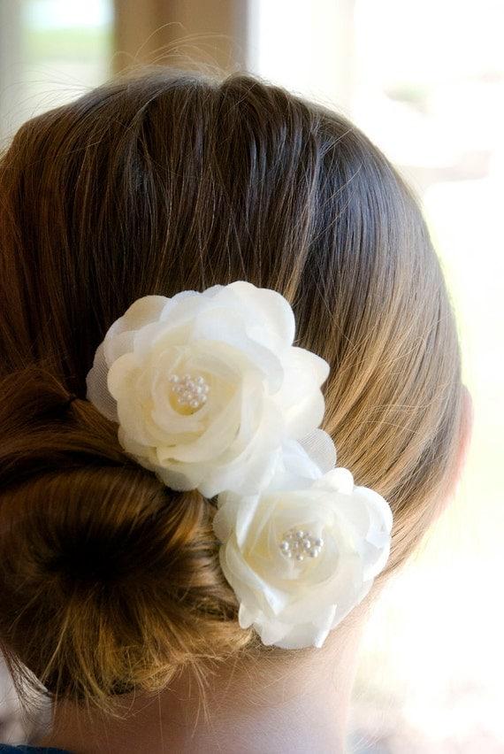Wedding Hair Flowers, Vintage Wedding Hair Flowers / Bridesmaids Hair Piece / Wedding hair flower / Vintage Wedding Head Piece