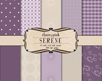 Purple scrapbook paper, scrapbooking craft supplies,  digital paper background as an instant download, 12x12 inch  craft paper