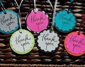 Thank You Favor Tags - you choose your colors