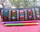 Pencil Case with multi colour embroidery