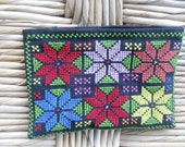 Small bag or purse with cross stitch embroidery