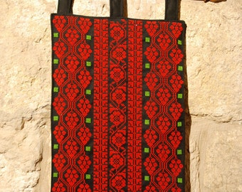 Wall hanging with rich Palestinian embroidery