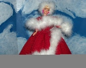 Barbie in 'White Christmas' movie gown  ORDERS ONLY