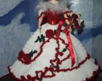 Barbie in Crocheted Holiday Gown    Orders only