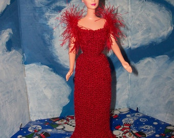 Barbie  in Red Party Dress from Gone with the Wind
