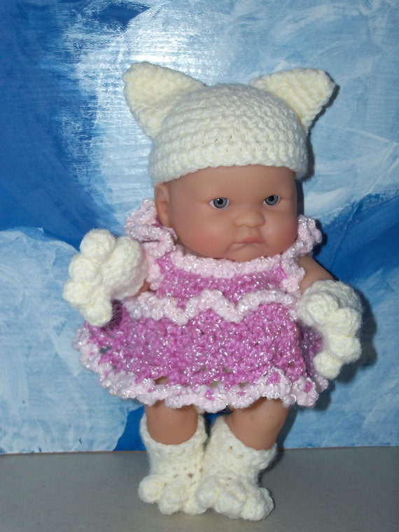 8 inch Berenguer Baby Doll in Kitty Cat Outfit