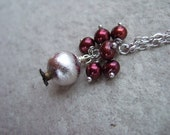 Silver Pomegranate and Freshwater Pearl