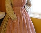 Ladies Civil War Pinner Apron made to order