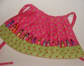 Crayon holder apron for child