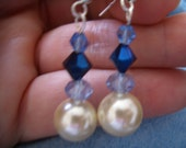 Glass pearls with blue accents