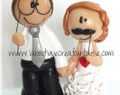 "Tiny wedding cake topper ""Sophia"" - AVAILABLE / Ready to ship"