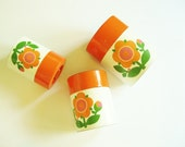 Flower Power Mod Retro Kitschy Kitchen Canisters Useful and Cute