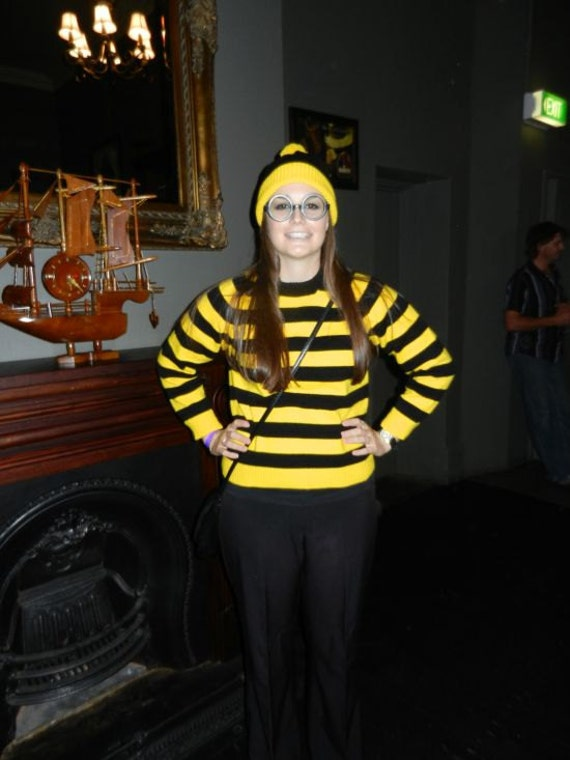 Wheres Wally Waldo Or Odlaw Sweater In Yellow Black Or