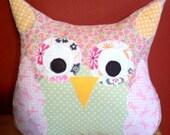 Annie the Owl pillow friend. Child Friendly