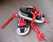 Converse Chuck Taylor All Star SWAROVSKI crystals BLING Minnie / Mickey mouse inspired