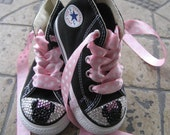 Converse Chuck Taylor All Star SWAROVSKI crystals BLING minnie mouse inspired