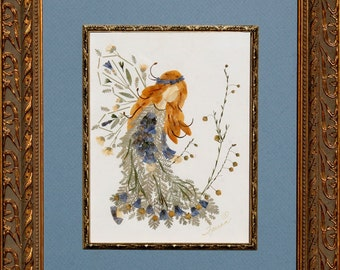 """Flower Fairy Original Design - """"Magical Faery of Compassion"""" created with REAL Flowers"""