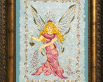 "Fantasy ""Fairy Dust"" Original Design - Magical Faery Art made with REAL Pressed Flowers"