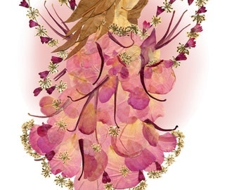 "Flower Fairy 8 x 10 Fine Art Giclee Print - Original ""Fairy of Patience"" Wall Decor"