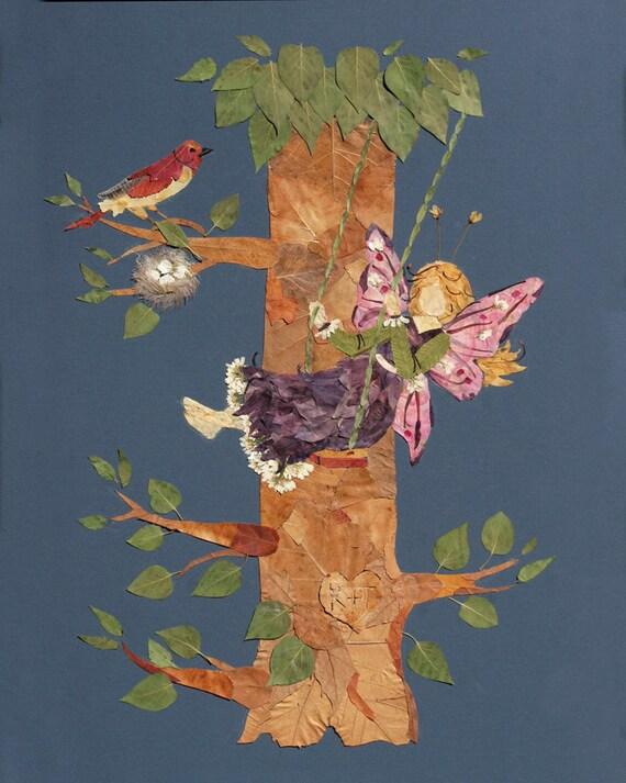 Childrens Fantasy Fairy Wall Art - Let Love Grow - 13 x 19 Fine Art Giclee Print