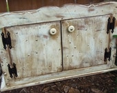 Rustic Cabinet Wood Wall Shelf Wood Furniture Primitive Country Home Decor Shabby Chic Cabinet