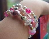 Rose of Sharon wraparound bracelet, by NikoandNonnie