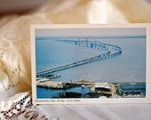 1979 Chesapeake Bay Bridge Twin Span Postcard