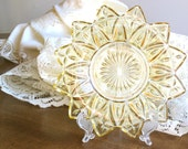 Yellow Glass Dish