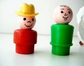 Cowboy and Bald Man Fisher Price Little People