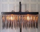 Up-cycled Butter Knife Standing Chandelier