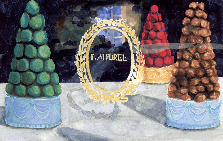 Laduree macaron croquembouche towers christmas window for Laduree christmas
