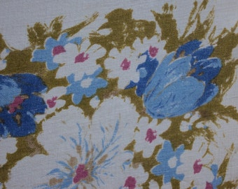 Vtg. Floral Tablecloth, Tulips and Flowers Galore 50 x 66