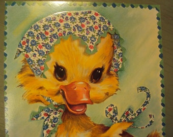 60s Unused Get Well Card, Coby Duck XL