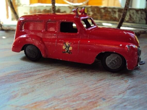 Vtg. TEKNO Denmark No. 439 Dodge Falck Red Ambulance