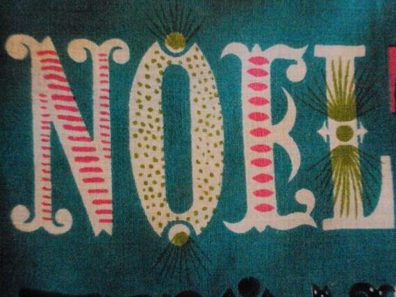 Vintage Unused Tammis Keefe Noel Hanky, Turquoise Green Pink
