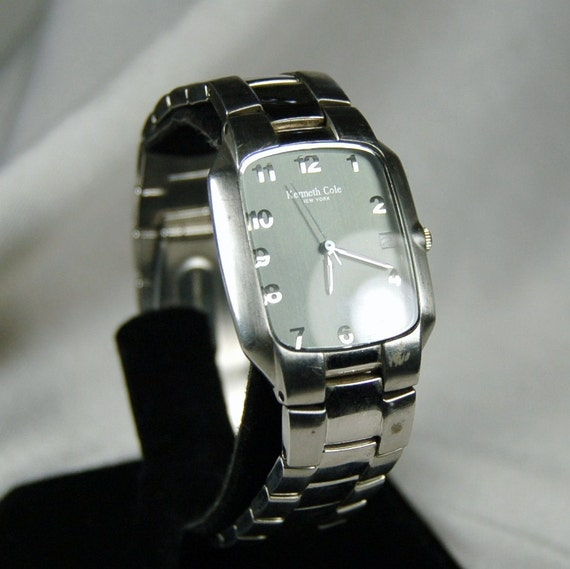 Vintage  Men's Quartz Watch by Kenneth Cole of New York - Cleaned and Working - Authentic