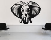 Awesome Elephant Head - Vinyl Wall Art Decal