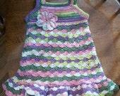 Crochet Baby Sundress - 12 Months
