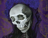 Santa Muerte in Purple, limited edition giclee print