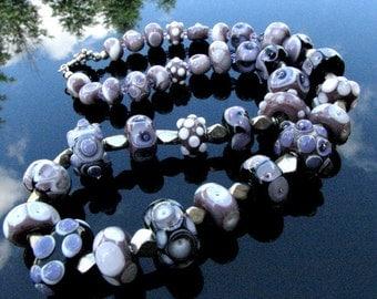 Lampwork Bead Necklace Handcrafted Glass Handmade Wearable Art Jewelry SRA / SRAJD