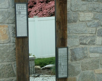 Large Wall Mirror - Reclaimed Wood