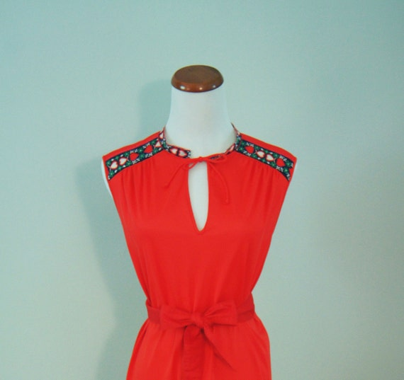 vintage queen of hearts red sundress (L)
