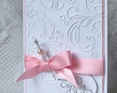 Elegant Mother's Day Card - Pink RESERVED for Renee