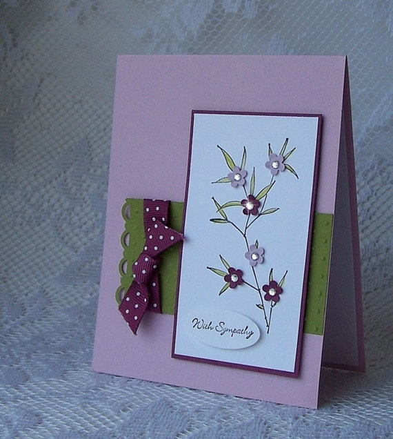 With Sympathy in Pale Plum