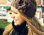 Taupe Crochet Headband/Earwarmer