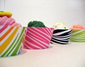 Fluted Cake Wraps- Zebra set of 12