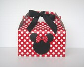 Order for Ruchel  Set of 10 Minnie Mouse Favor Boxes -Red Polka Dot Gable Top Favor Boxes