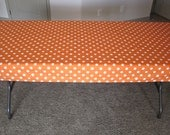 Orange Polka Dot Tablecloth